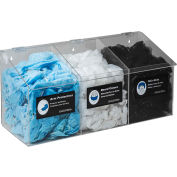 Horizon Mfg. 3-Compartment Clear Hair Net/Beard Cover/Shoe Cover/Arm Protector Dispenser