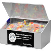 """Horizon Mfg. 60 Pair Ear Plug Dispenser With Lid, Holds 10 Pair Safety Glasses, 5136-W, 6""""L"""