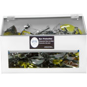 """Horizon Mfg. 70 Pair Safety Glass Dispenser Clear Acrylic With Clear Lid, 5148-W, 9-1/4""""L"""