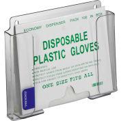 """Horizon Mfg. Small Clear Poly Glove Dispenser, 6-1/4""""H x 7-3/4""""W x 1""""D"""