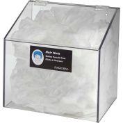 Horizon Mfg. 1-Compartment Clear Hair Net/Beard Cover/Shoe Cover/Arm Protector Dispenser (No Hole)