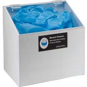 Horizon Mfg. 1-Compartment White Hair Net/Beard Cover/Shoe Cover/Arm Protector Dispenser (No Hole)