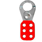 "Horizon Mfg. Lockout Tagout Hasp, 5501, Standard Style, 1"" Opening, Red - Pkg Qty 12"