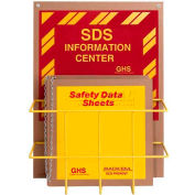 "Horizon Mfg. English Eco Friendly SDS Safety Center, 8555, 3""W Binder"