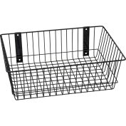 "Rack'em™ Mount Anywhere Wire Basket 18""W x 12""D x 6""H Black"