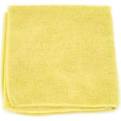 """Microworks Microfiber Towel 12"""" x 12"""" 220GSM, Yellow 12 Towels/Pack - 2501-Y-DZ"""