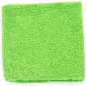 "Microworks Microfiber Terry Towel 16"" x 16"", Green 12 Towels/Pack - 2502-GREEN-DZ"
