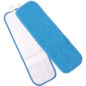 "Microworks 18"" Velcro Flat Wet Mop, Blue - 2504-MFFP-18B - Pkg Qty 12"