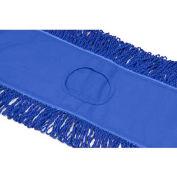 "Microworks 48"" Microfiber Canvas Back Dust Mop, Blue - 2506-MFDM-48B"