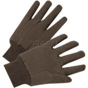 Hospeco® Brown Cotton Jersey Knit Gloves, 8 Oz., 20 Dozen/Case