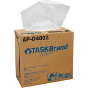 "TaskBrand® Heavy Duty DRC Wipes In Pop-Up Case 9-1/2"" x 16"", 100/Box, N-V040IDW"
