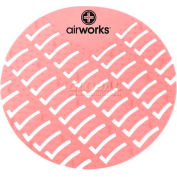AirWorks® Urinal Screen, Strawberry, 10/Case, AWUS004-BX