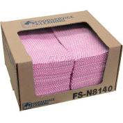 "TaskBrand® Counter Food Service Towel, Pink/White 12"" x 21"", 200/Case, N-F110QCP"
