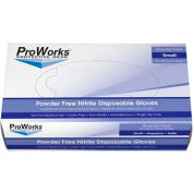 ProWorks® 3 Mil Industrial Nitrile Powder-Free Disposable Gloves, Small, 100/Box, 10 Bxs/Case