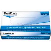 ProWorks® 5 Mil Exam Blue Nitrile Powder-Free Disposable Gloves, Medium, 100/Box, 10 Bxs/Case