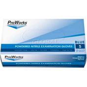 ProWorks® 5 Mil Exam Blue Nitrile Powdered Disposable Gloves, XL, 100/Box, 10 Bxs/Case