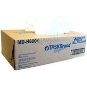 "TaskBrand® Medium Duty Spunlace Wipes, 12-3/4"" x 16"", 180/Case, MD-H6001"