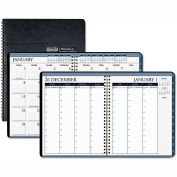 House of Doolittle™ Recycled Wirebound Weekly/Monthly Planner, 11 x 8.5, Black Leatherette, 2022