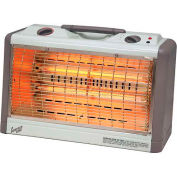 Comfort Zone® Deluxe Horizontal Fan Forced Quartz Heater CZQTV33 - 750/1500 Watt