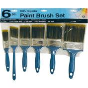 6-Piece 100% Poly Paint Brush Set - 2100/6 - Pkg Qty 12