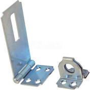 "Ultra Hardware Fixed Staple Safety Hasp, Steel, 2-1/2""L, Zinc Finish - Pkg Qty 12"