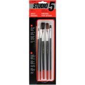 5-Piece Utility Hobby Brush Set - BA30505 - Pkg Qty 12