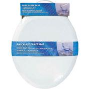 AquaPlumb® CSC90W Round Plastic Slow Close Toilet Seat W/ Cover, White