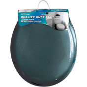 AquaPlumb® CTSSB Round Soft Toilet Seat W/ Cover, Black - Pkg Qty 6