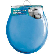 AquaPlumb® CTSSBL Round Soft Toilet Seat W/ Cover, Blue - Pkg Qty 6