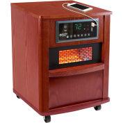 Comfort Zone® Premium Infrared Heater Wood Cabinet CZ2062C Cherry W/ Remote 1000/1500W 5120 BTU