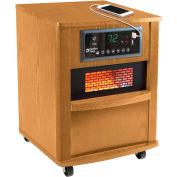 Comfort Zone® Premium Infrared Heater Wood Cabinet CZ2062O Oak W/ Remote 750/1500W 5120 BTU