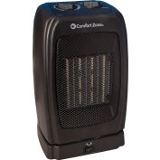 Comfort Zone® CZ448 Oscillating Ceramic Heater – Portable Fan Forced – Black - 750-1500 Watt