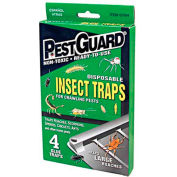 Pest Guard® Disposable Roach & Insect Glue Trap, 4 Pack - GTM412G - Pkg Qty 12