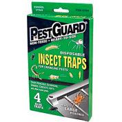 Pest Guard® Disposable Roach & Insect Glue Trap, 4 Pack - GTM412G - Pkg Qty 12