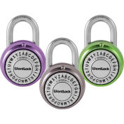 Howard Berger WordLock Letter Combination Padlock PL-095-A1 - Combo Text Deluxe, Assorted Colors - Pkg Qty 6