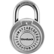 Howard Berger WordLock Letter Combination Padlock PL-114-A1 - Standard Combo Text, Assorted Colors - Pkg Qty 6