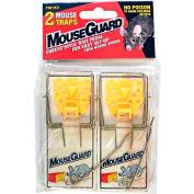 Mouse Guard Wooden Mouse Trap W/ Bait Pedal 2 Pack - TM1EZ - Pkg Qty 12
