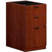 "basyx® BL Laminate Three-Drawer Pedestal File, 15-5/8""W x 21-3/4""D x 27-3/4""H Medium Cherry"