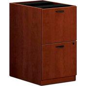 """basyx® BL Laminate Two-Drawer Pedestal File, 15-5/8""""W x 21-3/4""""D x 27-3/4""""H Medium Cherry"""