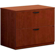 "basyx® by HON® Lateral File Cabinet - 35-1/2""W x 22""D x 29""H - Cherry - BL Series"