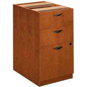 """basyx® BW Veneer Series Box/Box/File Pedestal File, 15-5/8""""W x 22""""D x 27-3/4""""H Bourbon Cherry"""