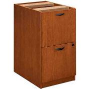 """basyx® BW Veneer Series File/File Pedestal File, 15-5/8""""W x 22""""D x 27-3/4""""H Bourbon Cherry"""
