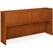 "basyx® Hutch with Wood Doors, 72""W x 14-5/8""D x 37-1/8""H Bourbon Cherry"