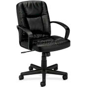 basyx® by HON® BSXVL171SB11 HVL171 Series Fixed Loop Arm High-Back Managerial Chair, Black
