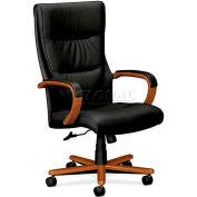 HON® - Basyx® VL844 High-Back Swivel/Tilt Chair, Leather Seat,  Bourbon Cherry Frame