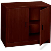 "HON® 10500 Series Storage Cabinet With Doors, 36""W x 20""D x 29-1/2""H Mahogany"