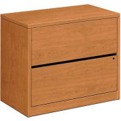 """HON® 10500 Series Lateral File, Two-Drawer, 36""""W x 20""""D x 29-1/2""""H Harvest"""