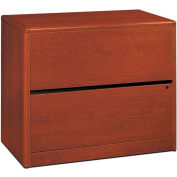 HON 10700 Series Lateral File, Two-Drawer, 36W x 20D x 29-1/2H, Henna Cherry