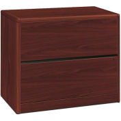 HON 10700 Series Lateral File, Two-Drawer, 36W x 20D x 29-1/2H, Mahogany