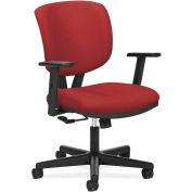 HON Volt Series Task Chair, Pneumatic, Swivel, Tilt Tension, Tilt Lock, Crimson